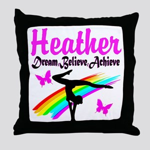 SUPER STAR GYMNAST Throw Pillow