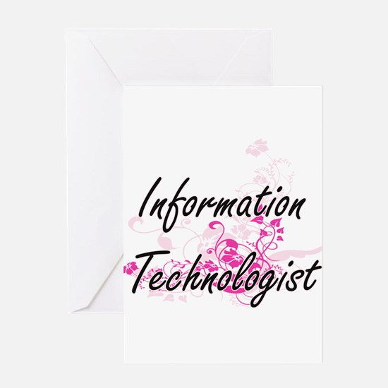 Information Technologist Artistic J Greeting Cards