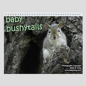 Baby Bushytails Wall Calendar