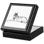 Resting Wolf<br> Keepsake Box