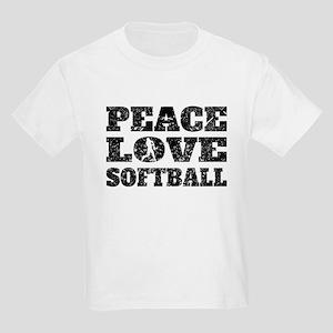 Peace Love Softball (Distressed) T-Shirt