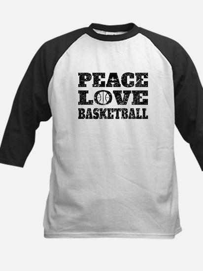 Peace Love Basketball (Distressed) Baseball Jersey