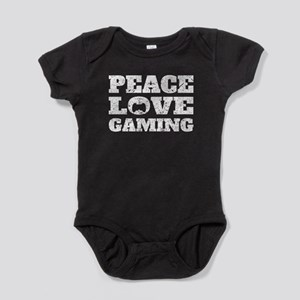 Peace Love Gaming (Distressed) Baby Bodysuit