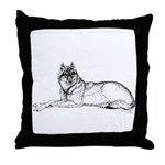 Resting Wolf<br> Throw Pillow