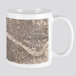 Vintage Map of London England (1845) Mugs