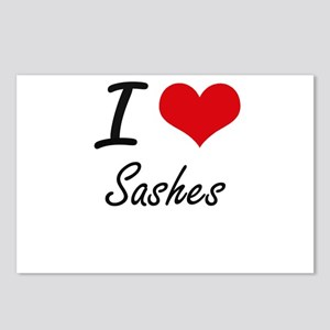 I Love Sashes Postcards (Package of 8)