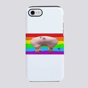 GAY PIGS ASS RAINBOW ART iPhone 8/7 Tough Case