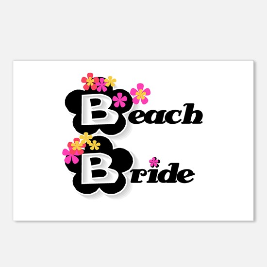 Black & White Beach Bride Postcards (Package of 8)