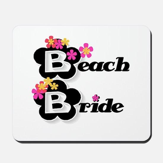Black & White Beach Bride Mousepad