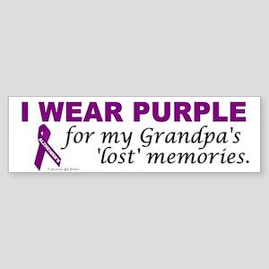 My Grandpa's Lost Memories Bumper Sticker
