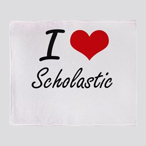 I Love Scholastic Throw Blanket