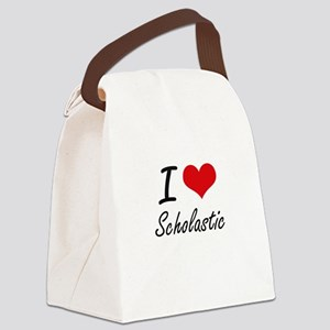 I Love Scholastic Canvas Lunch Bag