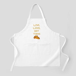 Live Love Tacos V Light Apron