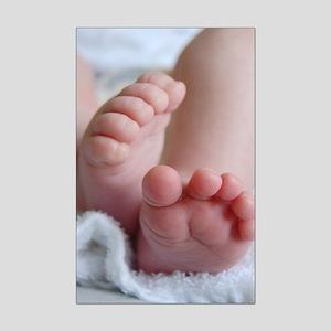 Baby Feet Mini Poster Print