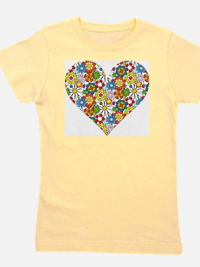 Flower-Heart Girl's Tee