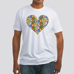 Flower-Heart Fitted T-Shirt