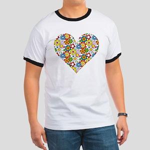 Flower-Heart Ringer T