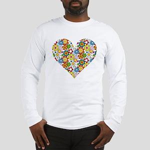 Flower-Heart Long Sleeve T-Shirt