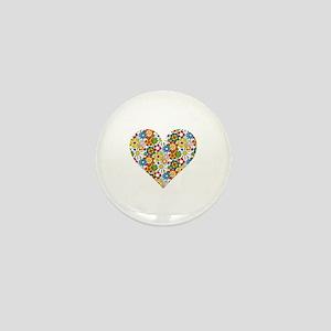 Flower-Heart Mini Button