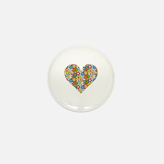 Flower-Heart Mini Button