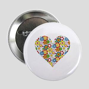 """Flower-Heart 2.25"""" Button"""