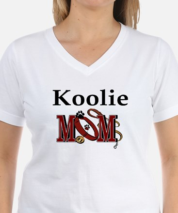 Koolie Dog Mom Ash Grey T-Shirt