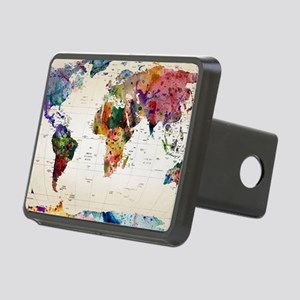 map Rectangular Hitch Cover