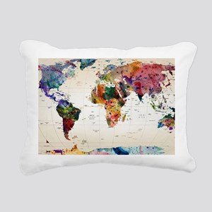 map Rectangular Canvas Pillow