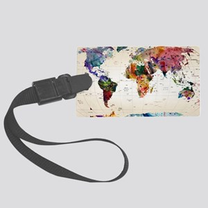 map Large Luggage Tag