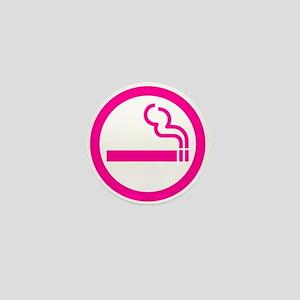 Ladies Smoking Area Japanese Sign Mini Button