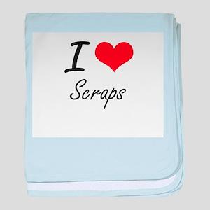 I Love Scraps baby blanket