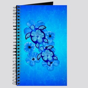 Blue Hibiscus And Honu Turtles Journal