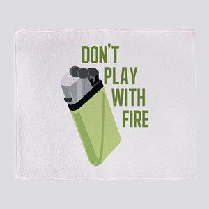 Play With Fire Throw Blanket