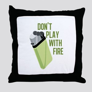 Play With Fire Throw Pillow