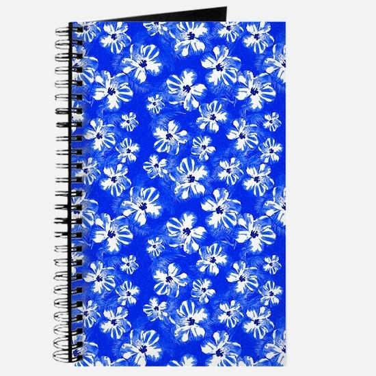 Blue Hibiscus Flowers Journal