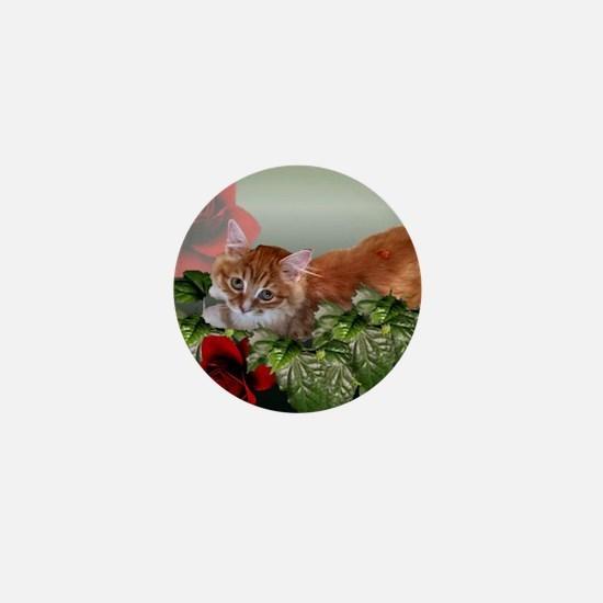 Cute Kitten Mini Button