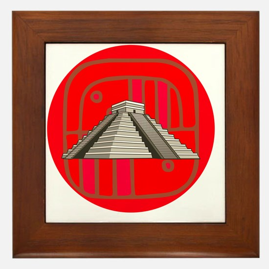Maya pyramid Framed Tile