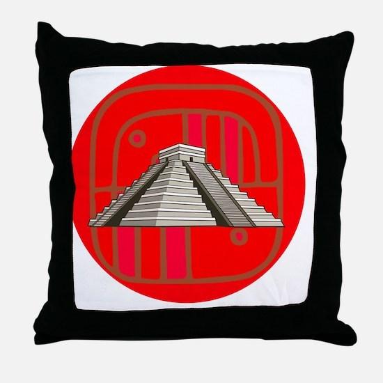 Maya pyramid Throw Pillow