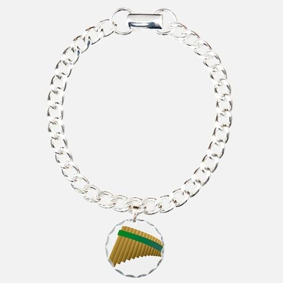 Pan flute Charm Bracelet, One Charm