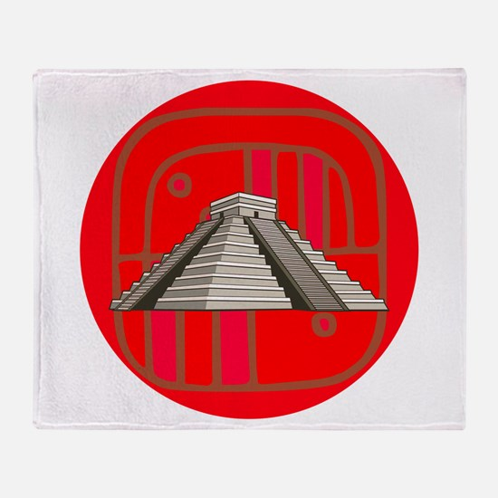 Maya pyramid Throw Blanket