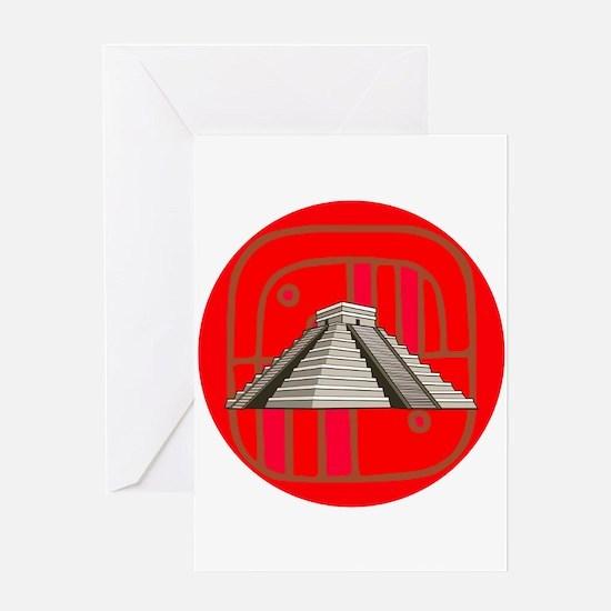 Maya pyramid Greeting Cards