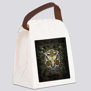 Celtic Shield and Swords Canvas Lunch Bag