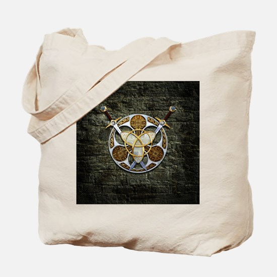 Celtic Shield and Swords Tote Bag