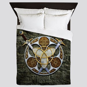 Celtic Shield and Swords Queen Duvet