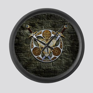 Celtic Shield and Swords Large Wall Clock