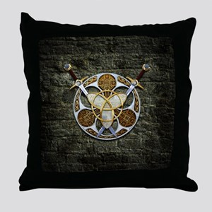 Celtic Shield and Swords Throw Pillow