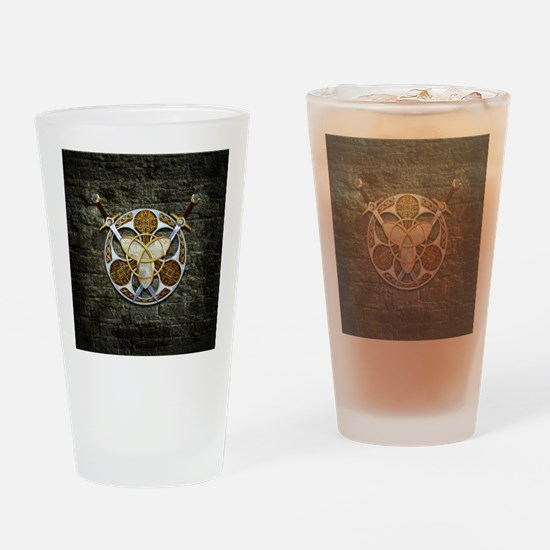 Celtic Shield and Swords Drinking Glass