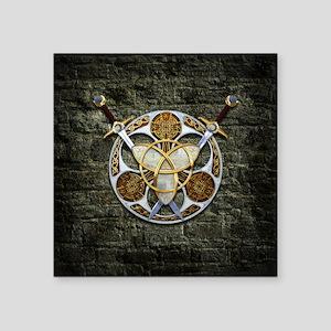 Celtic Shield and Swords Sticker