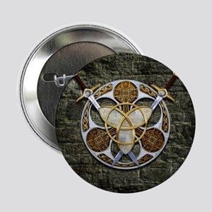 "Celtic Shield and Swords 2.25"" Button (10 pack)"