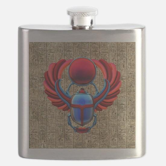 Colorful Egyptian Scarab Flask